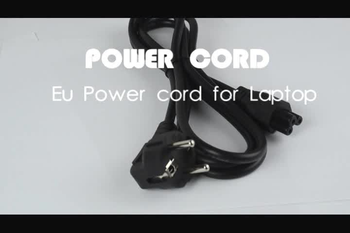 SIPU high quality EU plug 2 pin ac power cord for laptop wholesale Europe standard power cable good fuse power cables price