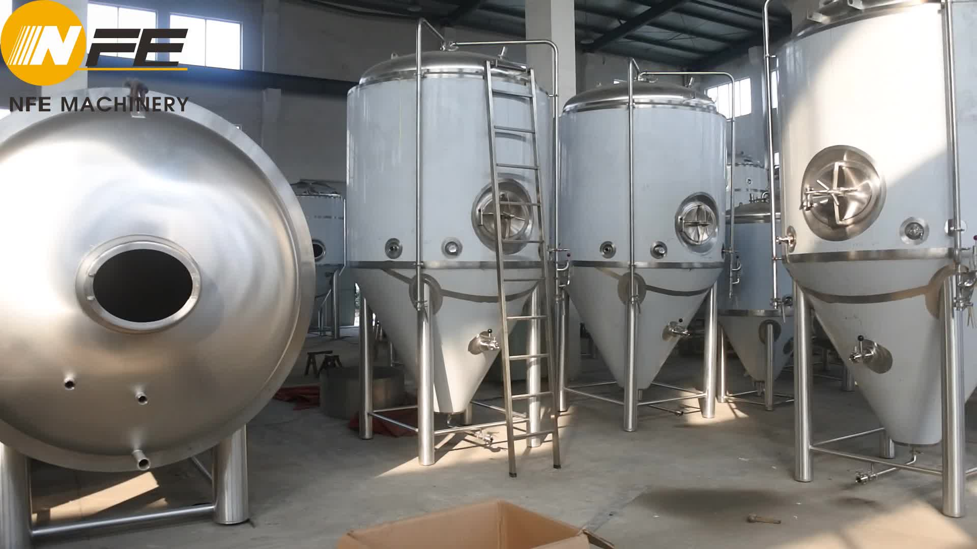 Pub hotel restaurant Brewery used 25HL industrial beer brew kettle stainless steel wine 2500l beer conical fermentation tank