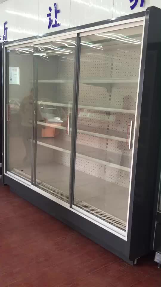 New Product Supermarket Beverage Display Cooler Upright Sliding