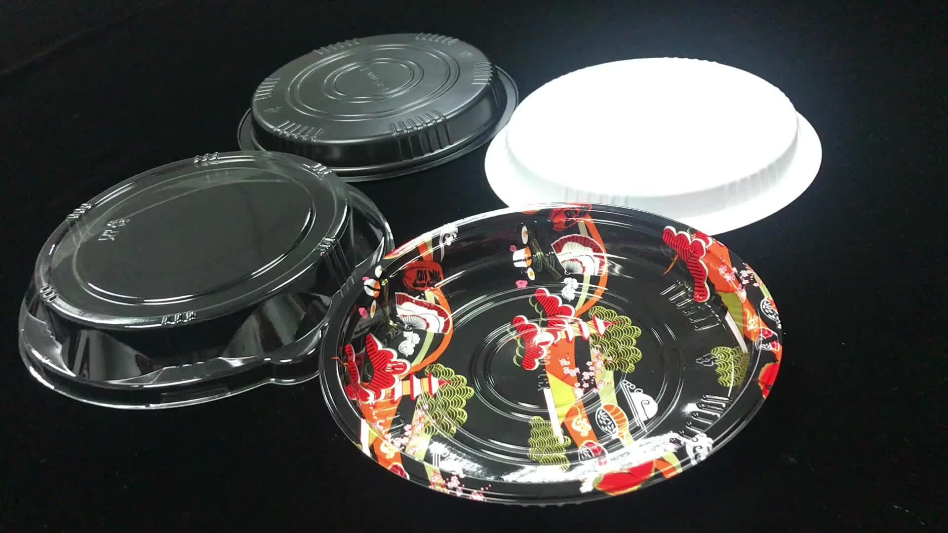 High Quality Wholesale Sushi Round Plastic Tray Cheesecake Box