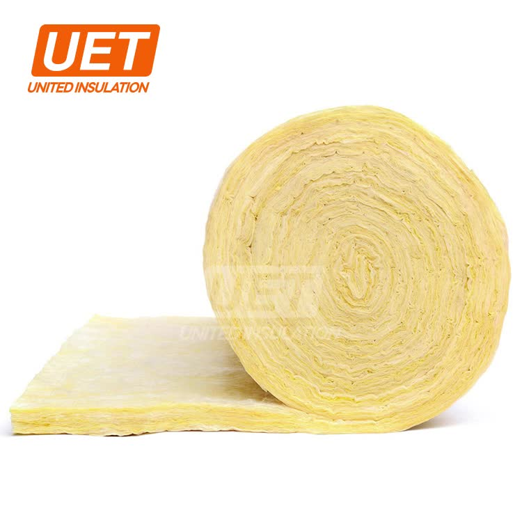 high quality and soft fiber fire proof glass wool acoustic blanket unfaced and fsk facing for residential house insulation
