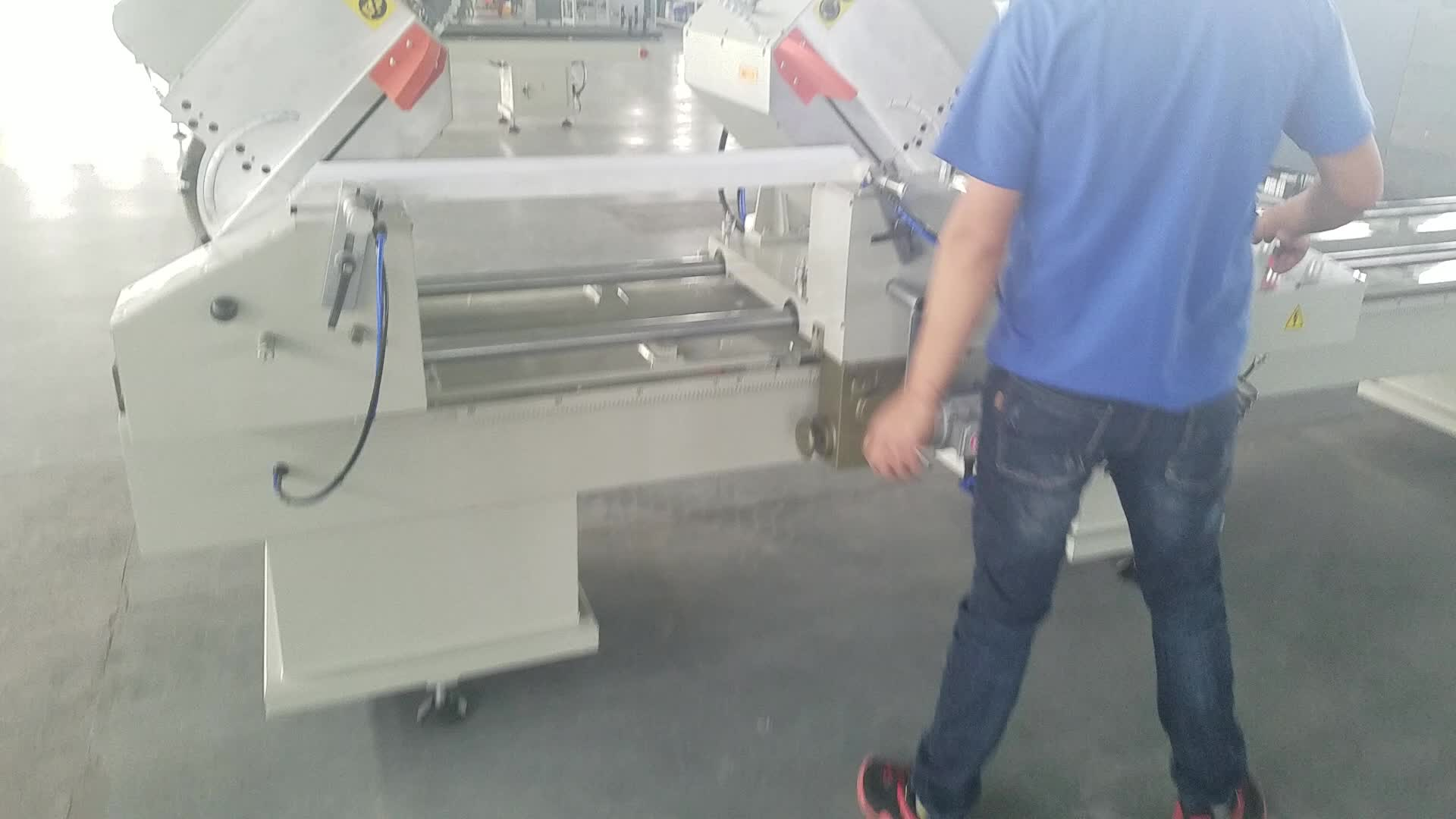 Aluminium UPVC Dubbele Hoofd MItre Saw Snijden Maken Machine