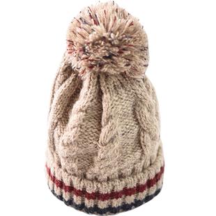 南极人冬季可爱加绒护耳毛线帽子