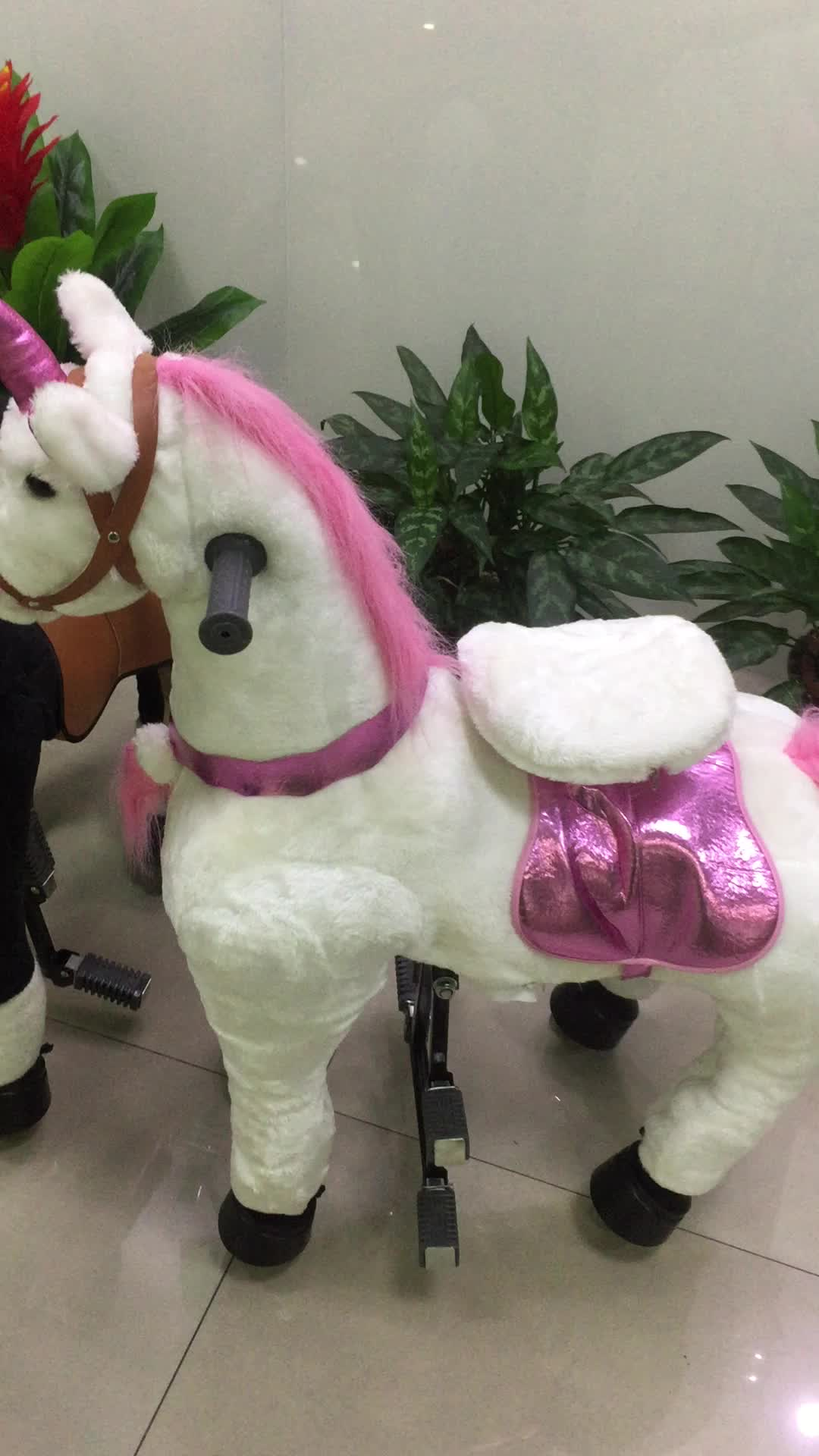 Unicorn Toys For Girls : Hi wholesale mechanical kid unicorn riding horse toy for