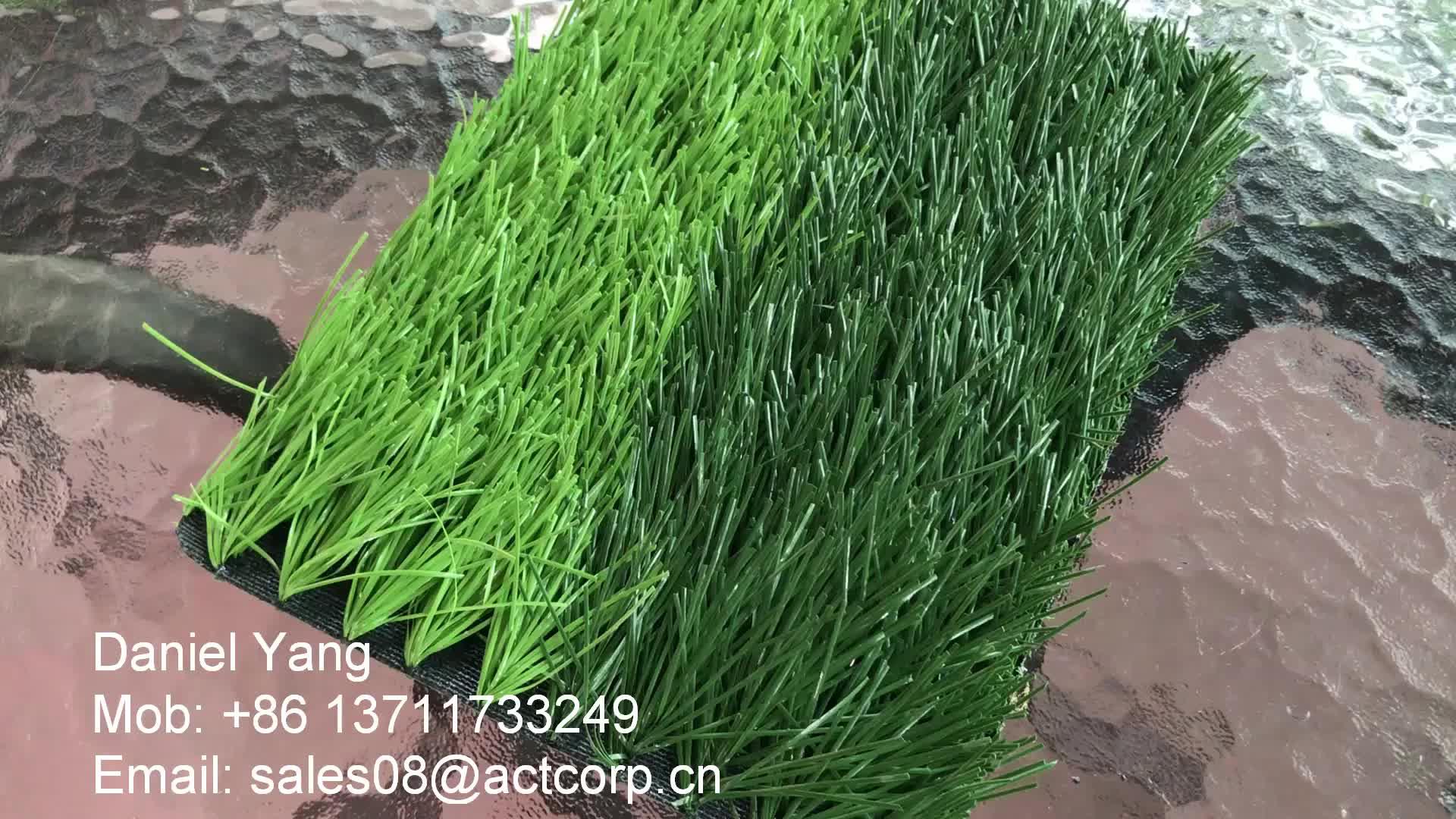 50mm fibra calcetto calcio in erba artificiale durevole