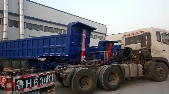3 Axle 60Ton  Hydraulic Cylinder Rear Dump Tipper End Dumper Semi Trailers