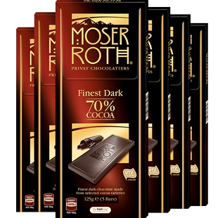 Germany imports 70% cocoa pure black chocolate 6 boxes.