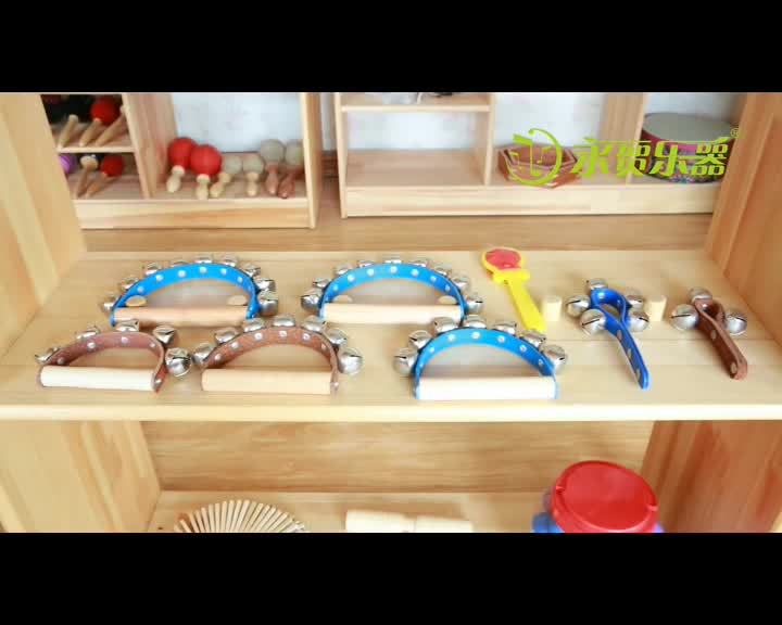 Wholesale percussion music educational toys for children wooden hand bells