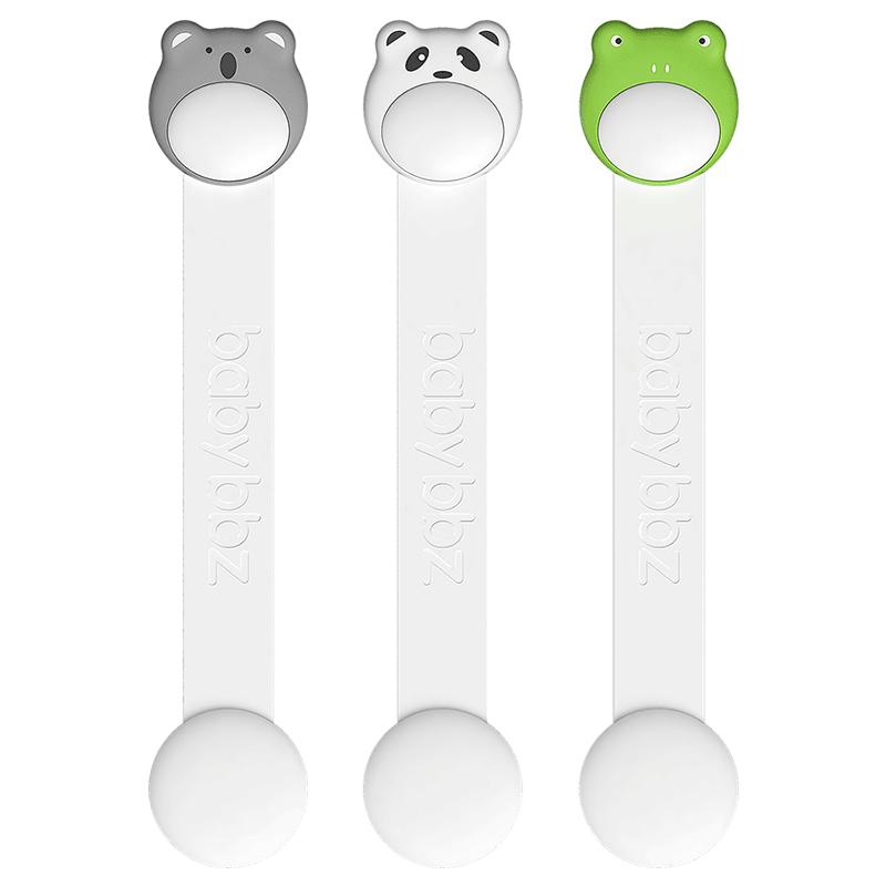 棒棒猪防开启抽屉锁儿童安全锁婴儿防护开冰箱门宝宝防夹手3个装