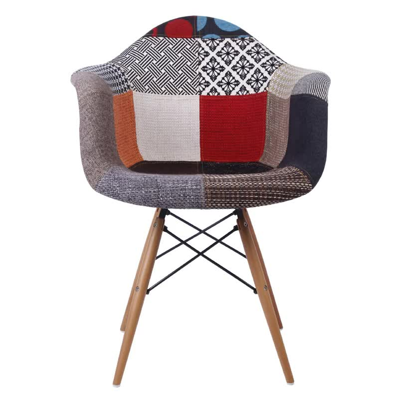 Comfortable Upholstered Chair With Wooden Legs For Living