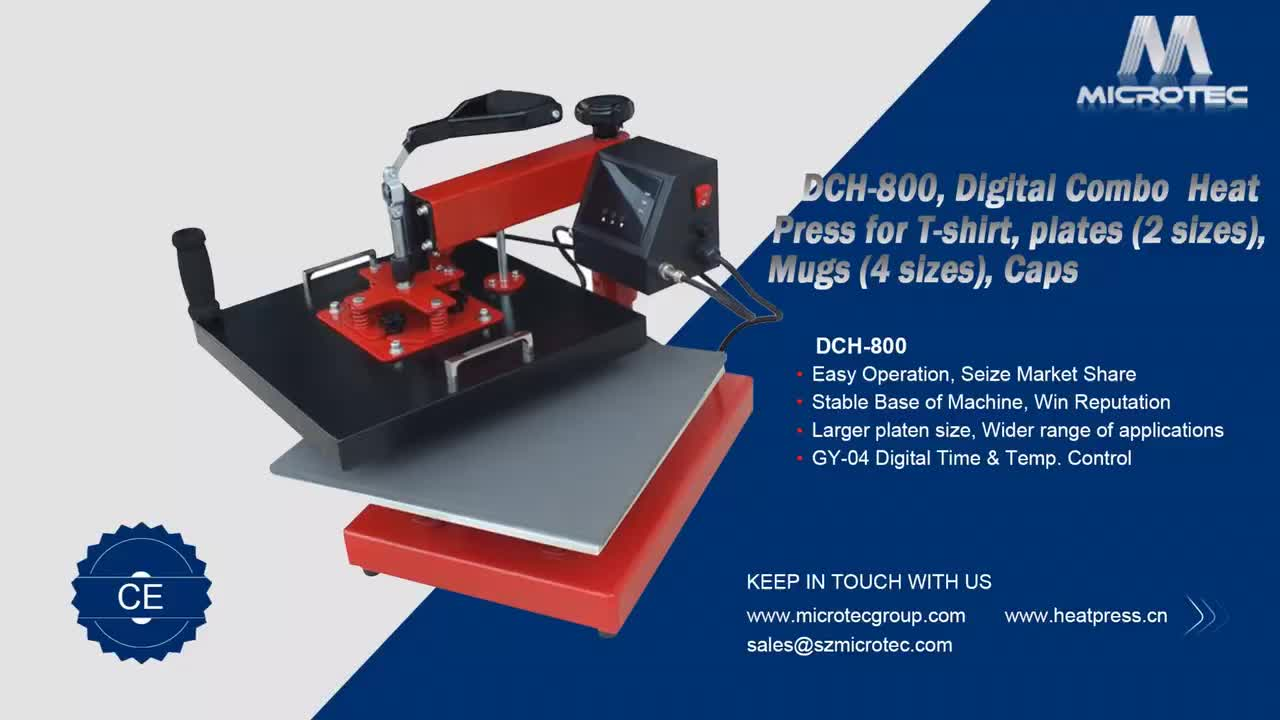 Digital Combo Heat Press for T-shirt Plates Swing Away Transfer Heat Press Machine Price