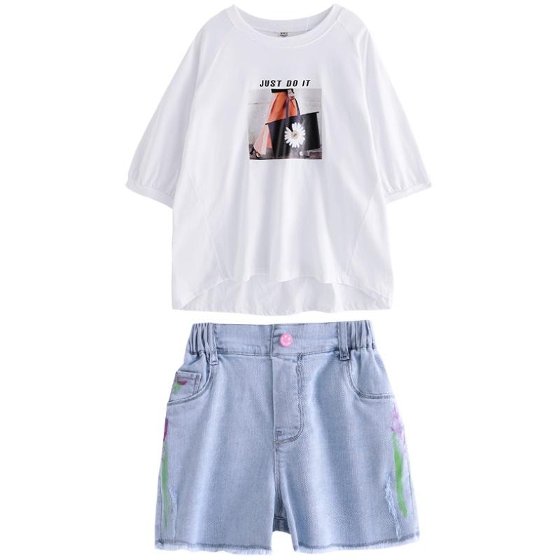 大童夏季短袖套装韩版13洋气棉t恤质量好不好