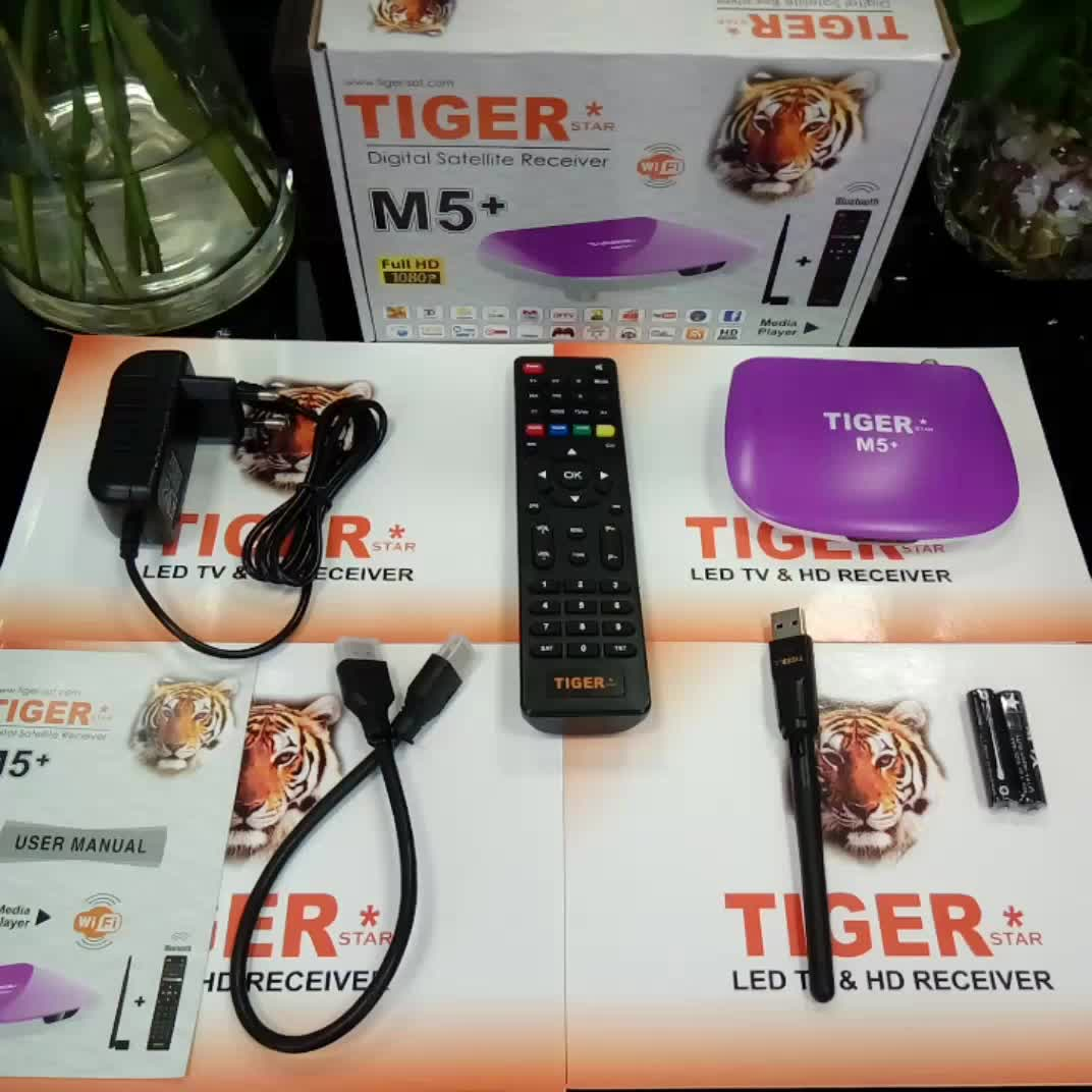 2017 Best Selling Products Tiger M5+ Full HD Free to Air Digital Satellite Decoder Support IPTV