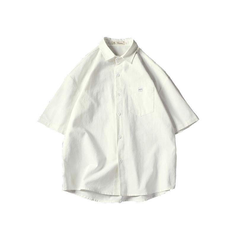 2021夏季短袖男士五分袖帅气白衬衫用后反馈