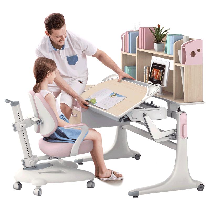 法兰芭比好学童学习桌实木写字桌椅买后三个月使用谈缺点!