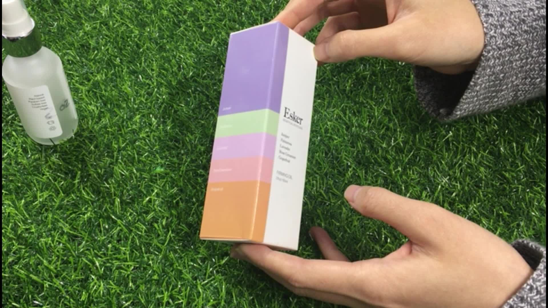 Özel dikdörtgen kozmetik kağıt kutu ambalaj, besleyici cilt bakım ürünü için dongguan kaplamalı kağıt ambalaj kutusu