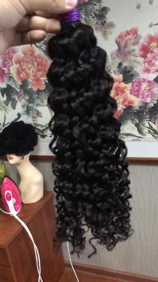 Wholesale Different Types Of Curly Weave Hair 1b Natural Color Afro