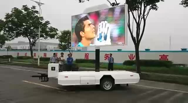 China led trailer mobile stages, mobile led advertising trailers for sale
