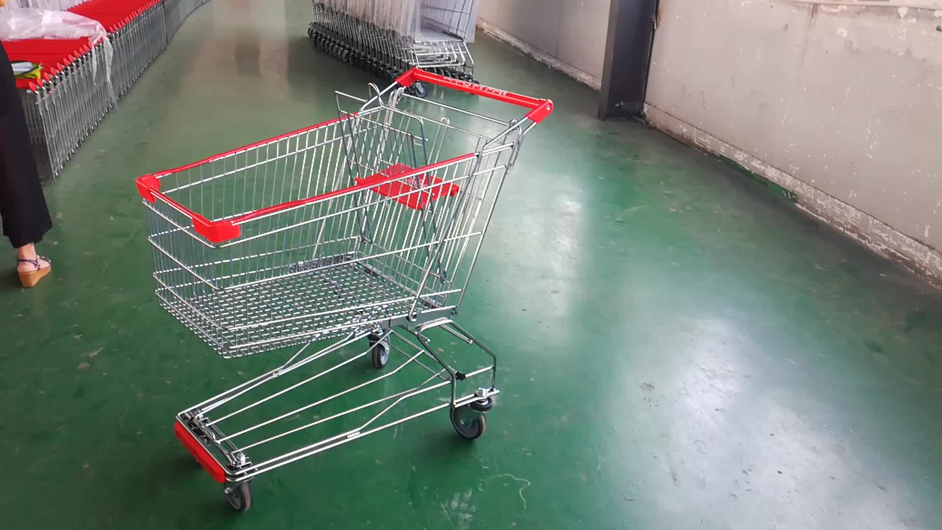 100L changshu factory shopping cart with baby seat for middle East