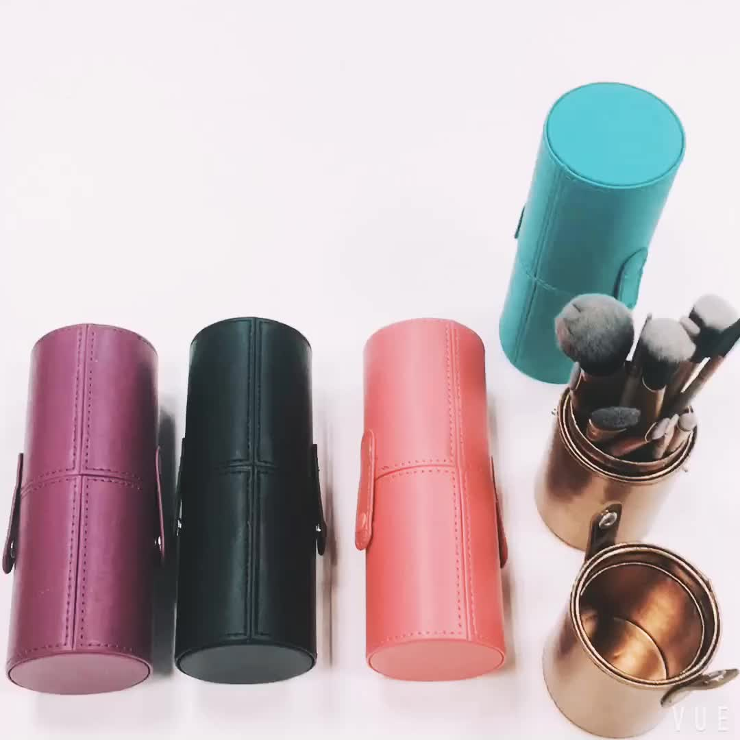 Yaeshii 12Pcs Complete Makeup Brush Kit With Cylinder Case Private Label Make Up Brushes Set