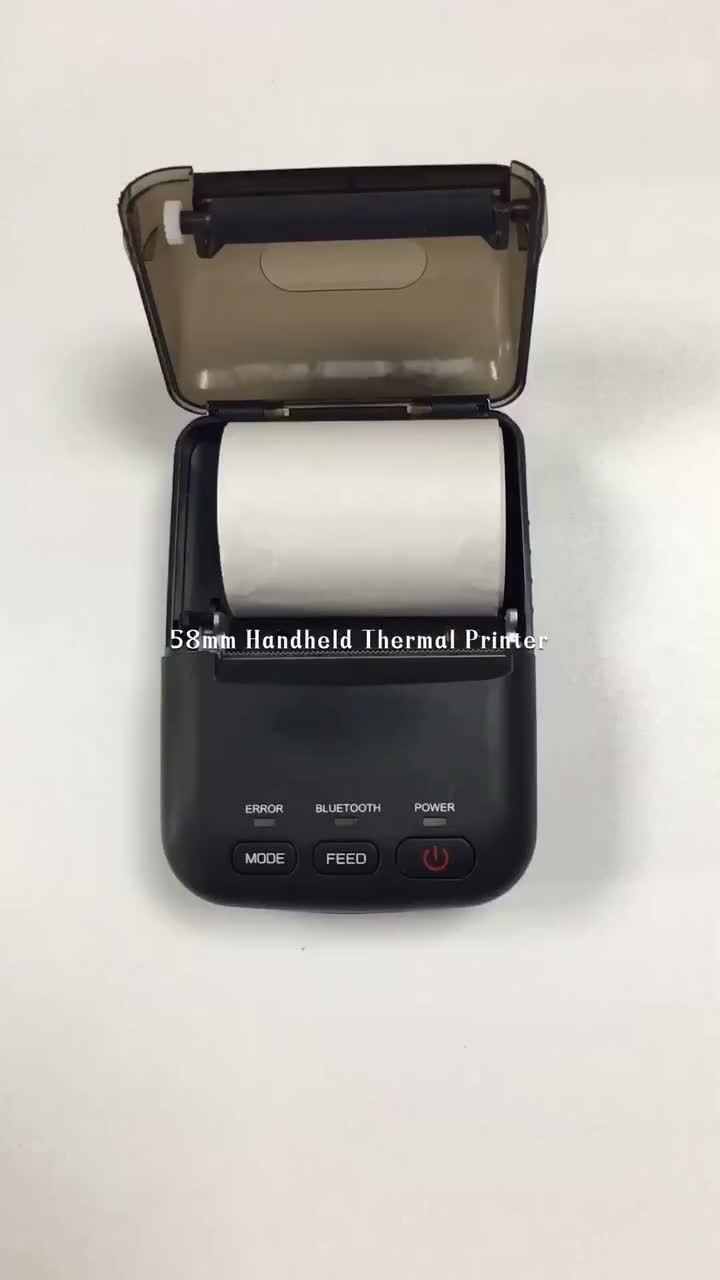 58mm Portable Receipt Thermal Bluetooth Mini Mobile Printer With Rechargeable Battery T12