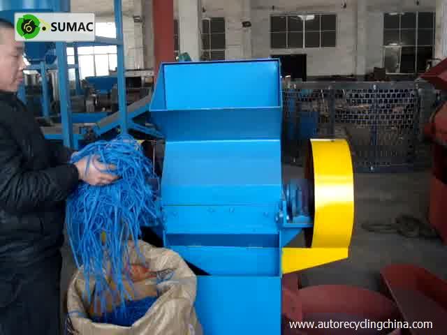 Recycling-Reifengranulat-Brechermaschine