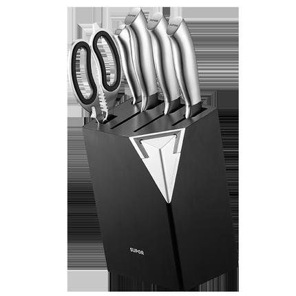 苏泊尔不锈钢刀具套装七件套砍骨刀