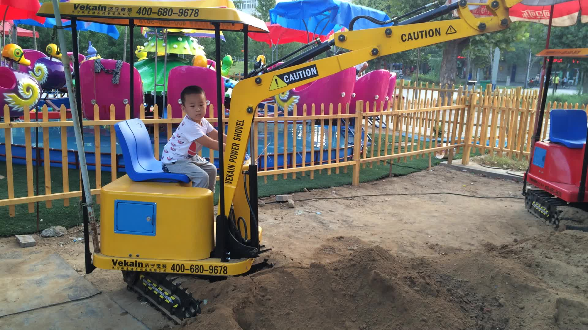 kids excavator toy ride on funfair rides kids game motor Coin Operated Children Excavator for sale
