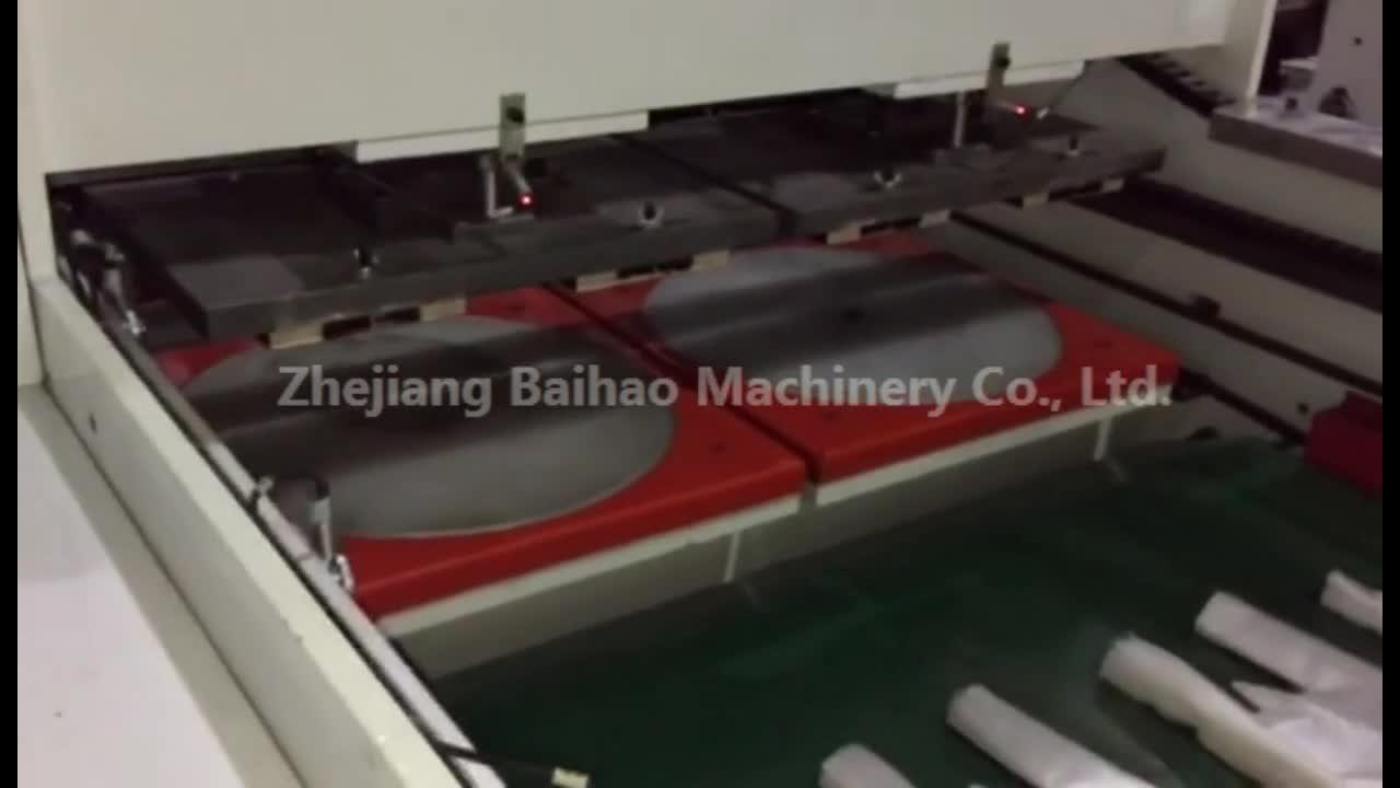Baihao הגעה חדשה שני סרוו 2 קו מכונה שקית פלסטיק חותם תחתון קניות חולצה
