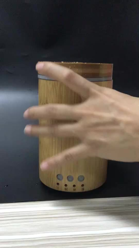 Ultrasonic humidifier  real natural bamboo essential oil aroma diffuser
