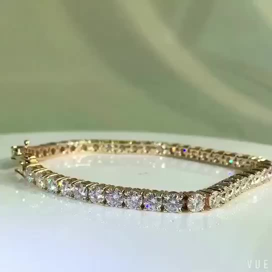 wholesale china solid 14k yellow gold moissanite diamond. Black Bedroom Furniture Sets. Home Design Ideas
