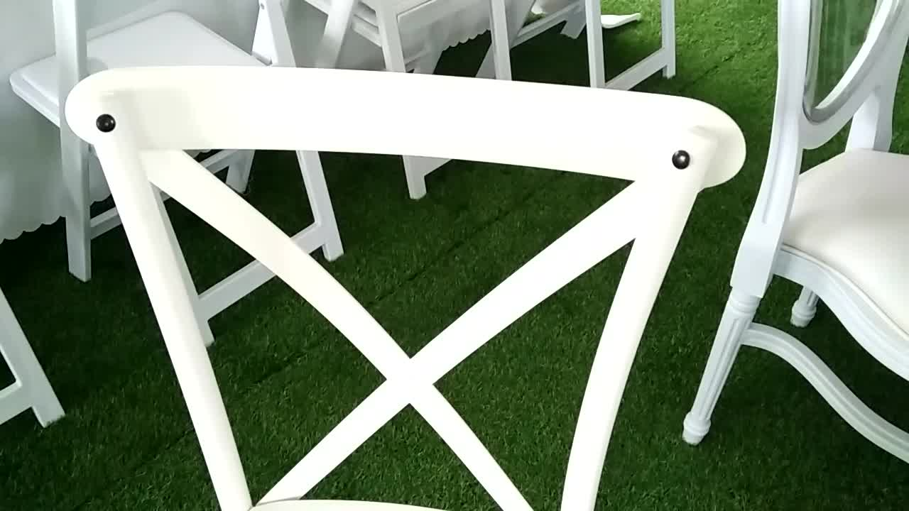 durable and UV protected outdoor cross back chair resin