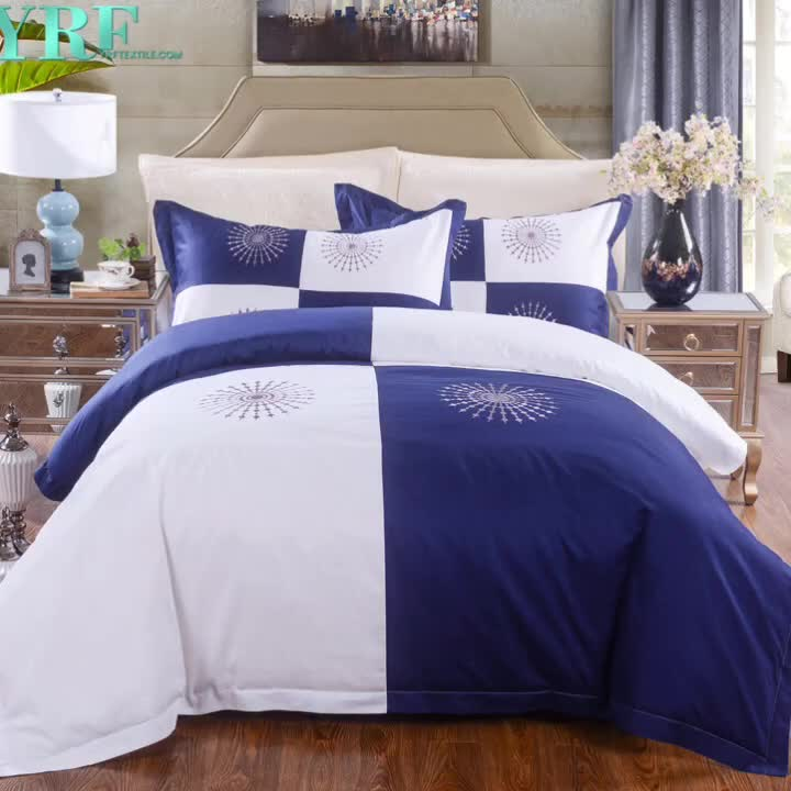 YRF Manufacturer Supply Good Quality Custom 100% Cotton Bedspreads For Hospital Beds