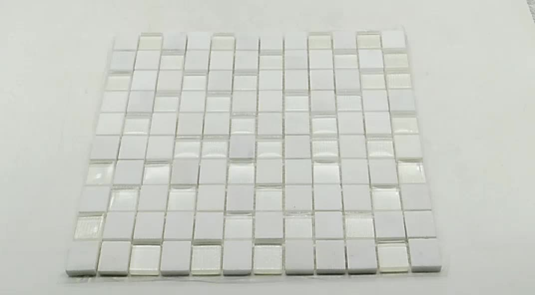 2018 New Natural Polished White tile glass Marble Mosaic