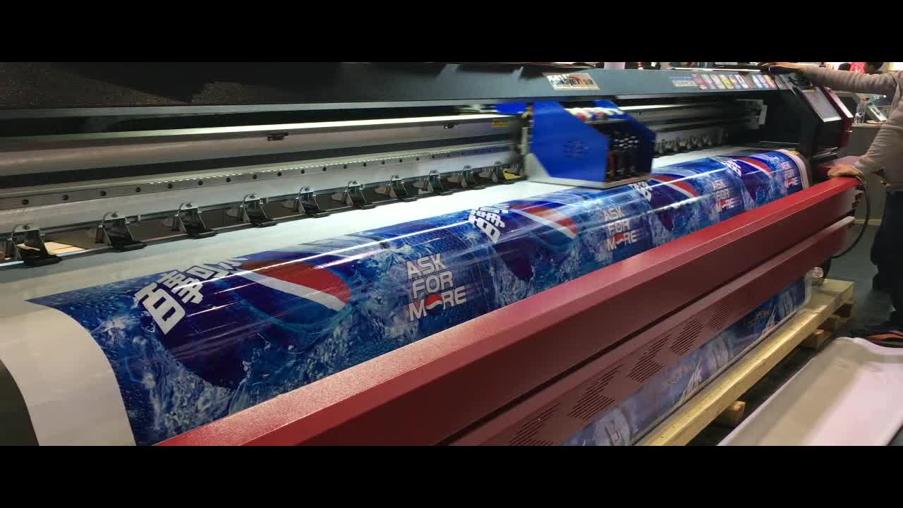 KingJet 3.2m Konica 512i printhead digital vinyl flex banner solvent printer/plotter/printing machine