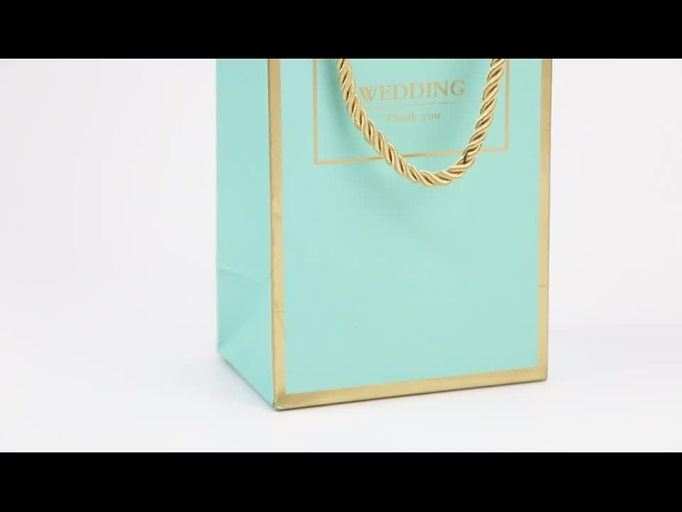 Packaging jewelry candy wedding famous brand luxury logo printed paper bag