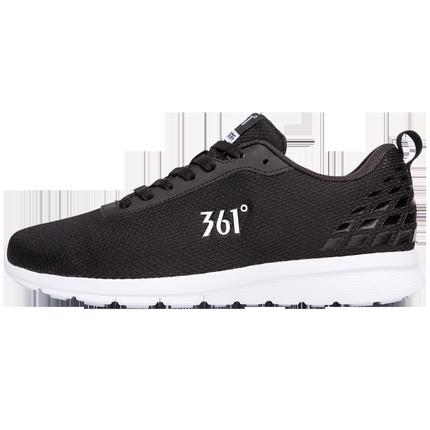361夏季男士361度轻便黑色男鞋