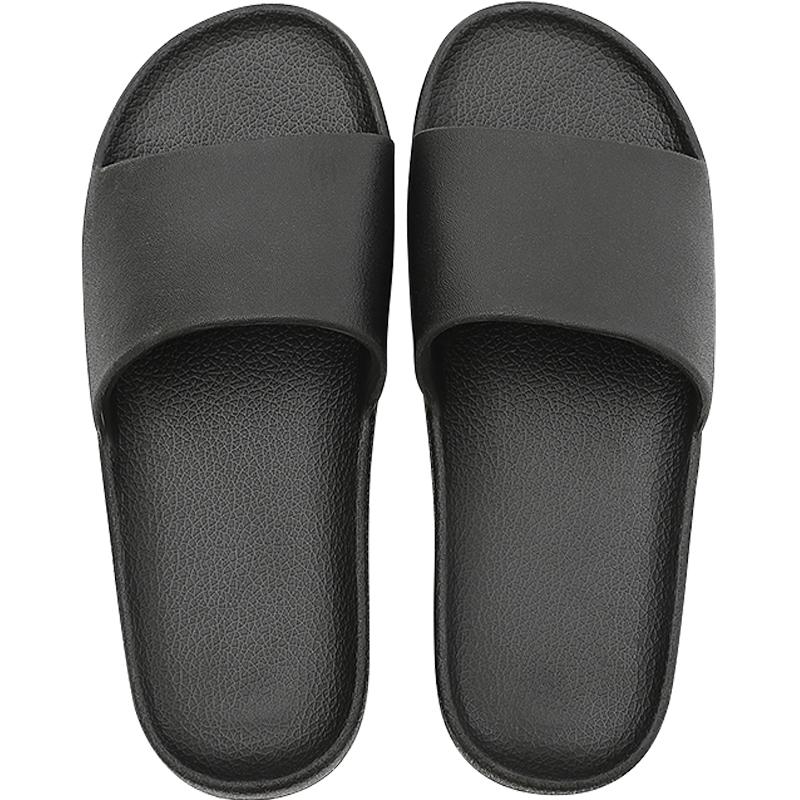 家用黑色软底白色男居家浴室拖鞋质量怎么样