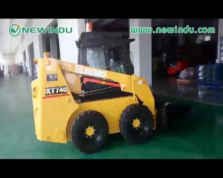 XT750 skid steer loader skid steer concrete mixer for sale 10x16.5 skid steer tire