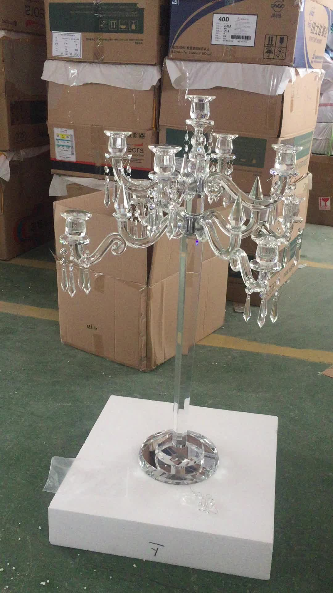 New wholesale crystal candelabra for wedding centerpieces table decoration