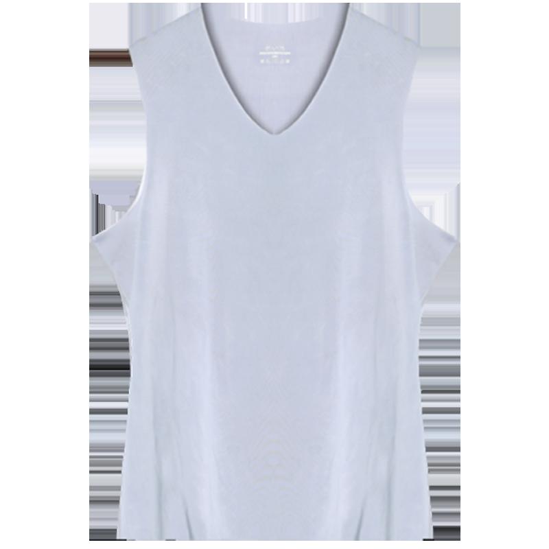 冰丝无痕男士背心男夏季修身型紧身青年运动跨栏无袖内衣打底汗衫