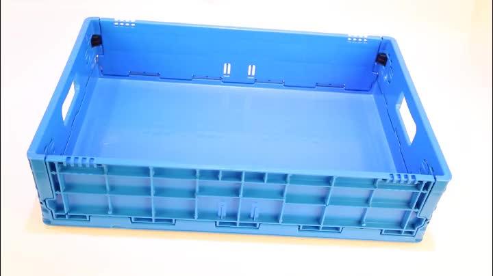 मजबूत प्लास्टिक की तह बढ़ते बॉक्स बिक्री के लिए प्लास्टिक फल सब्जी पैकिंग बक्से