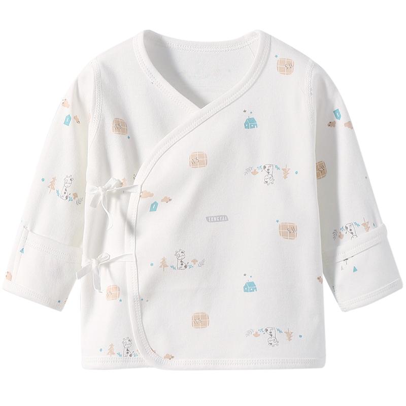 童泰新生婴儿儿衣服夏季薄款初生婴儿和尚服半背衣秋衣上衣春秋款