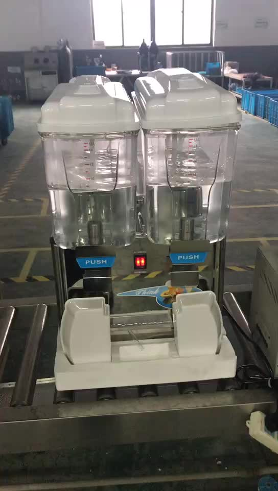 Two Tanks Food Class Pc Bowl Material Used Juice Dispenser Machine
