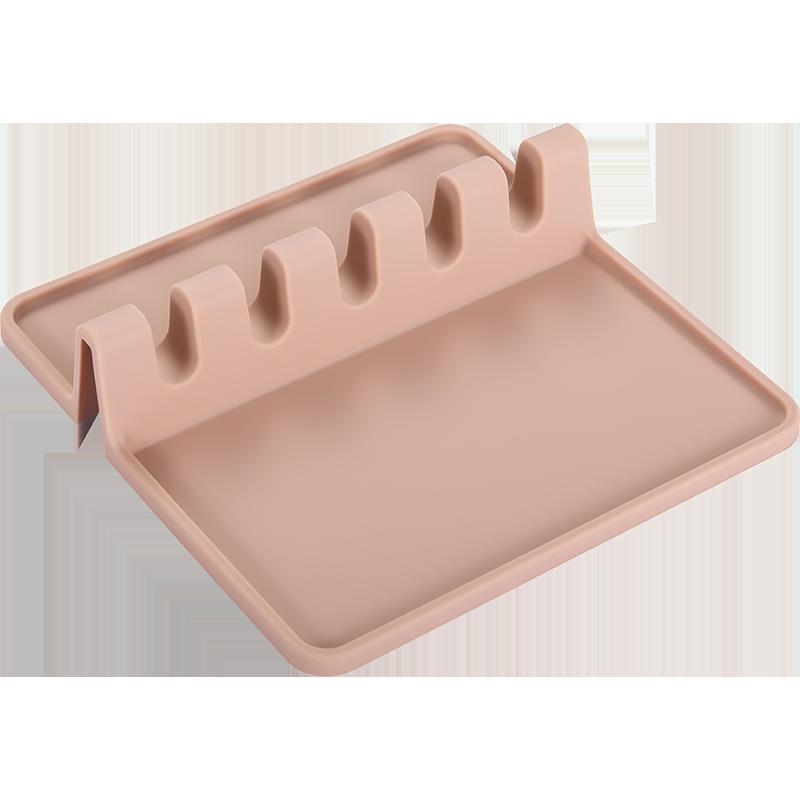 厨房锅铲架家用汤勺筷子锅铲垫托餐具收纳多功能硅胶置物架锅盖架