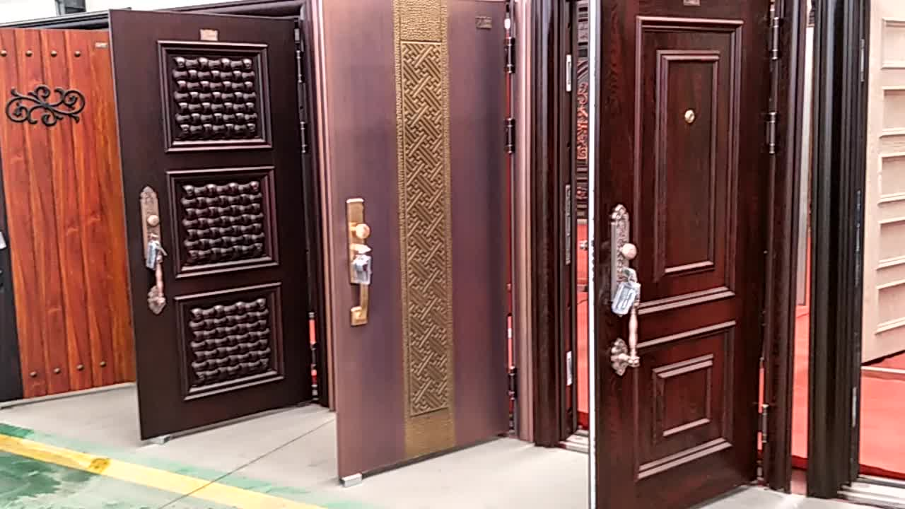 Fancy Turkey Armored Door Price Safety Steel Wood Design