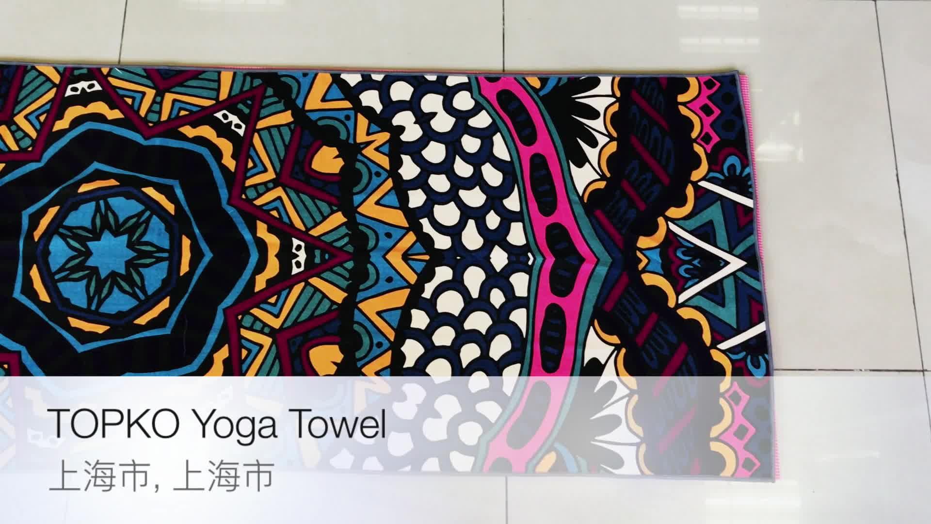 TOPKO Super Weiche Schweiß Saugfähigen Mikrofaser Druck Yoga Handtuch