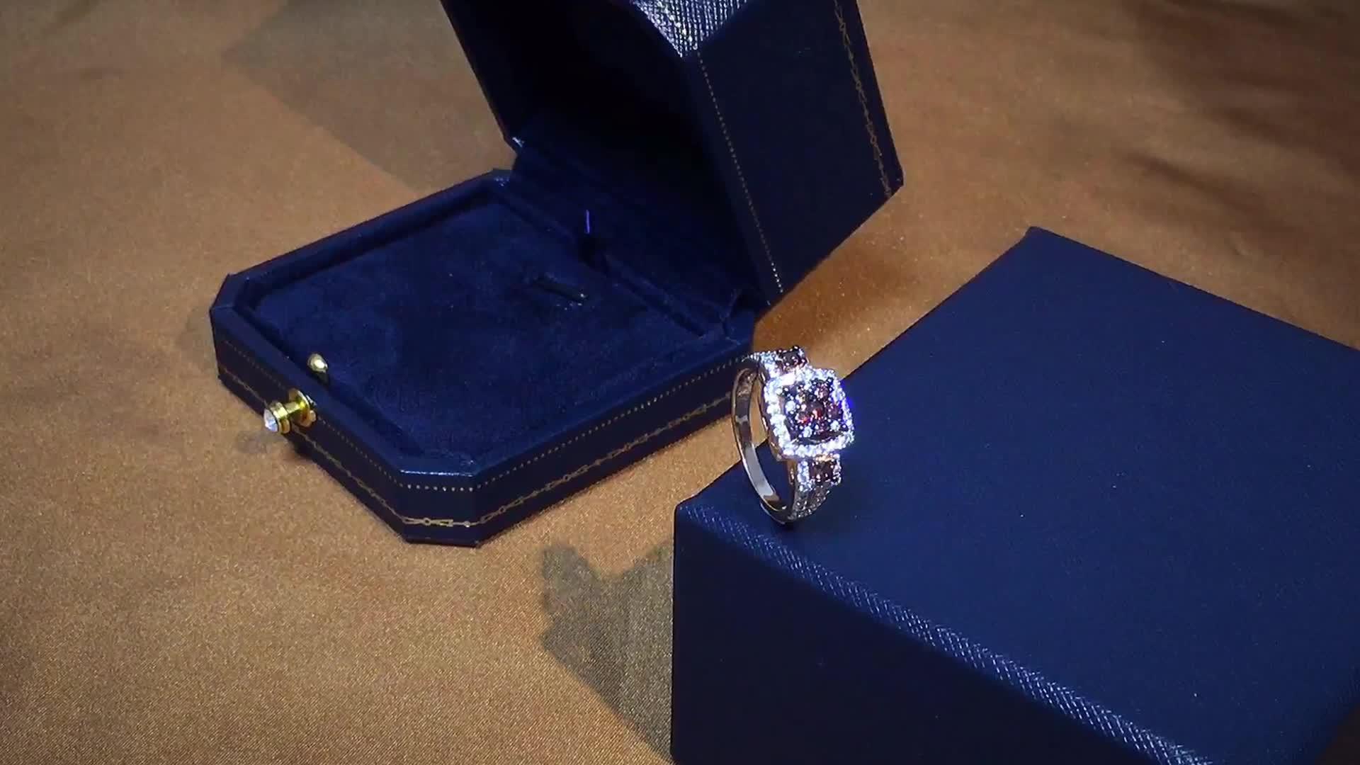 패션 보석 여성 반지 도매 보석 왁스 금형 화이트 골드 도금