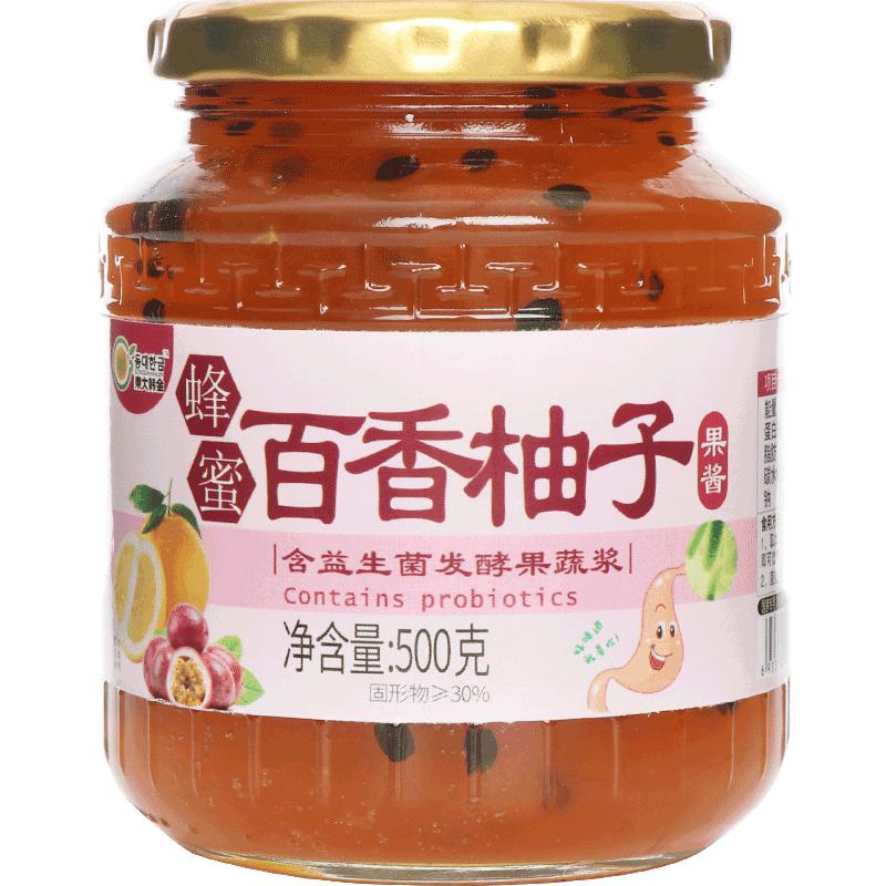 东大韩金蜂蜜百香柚子茶500g韩式益生菌发酵水果茶酱泡水冲饮品