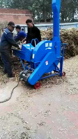 Feed machine corn straw grinding grass cutting mill with diesel engine